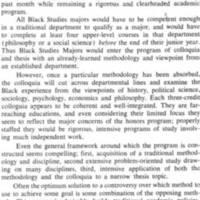 A Black Studies Major