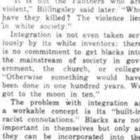 Billingsley Analyzes Black Family in America
