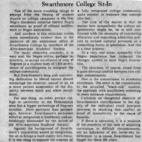 Philadelphia Bulletin, _Swarthmore College Sit-In_ 13 January 1969.jpg