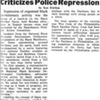 Black Panther Teach-In Criticizes Police Repression