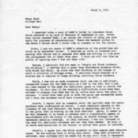[Letter from Robert Barr to Nancy Boyd, 03/03/1970]