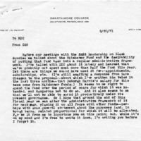 [Correspondence between Chuck Gilbert, Ed Cratsley, and Robert Cross re Michener funds, SASS budget]