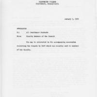 [Memorandum from Faculty Members of the Council, 01/03/1969]