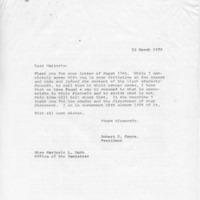 [Correspondence between Robert Cross and Marjorie Webb, 03/23/1970]