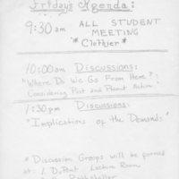 Friday's Agenda