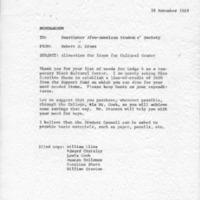 [Correspondence between SASS and Robert Cross 11/28/1969]