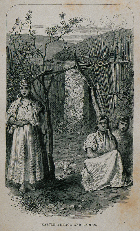 Kabyle village and women