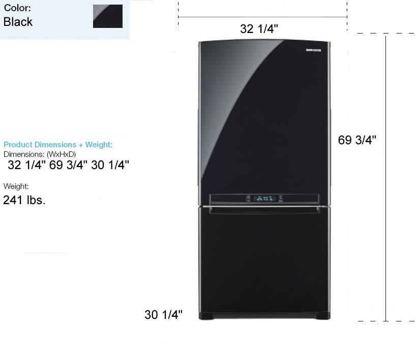 Refrigerator Freezer With Icemaker In Slim 24 Inch Width