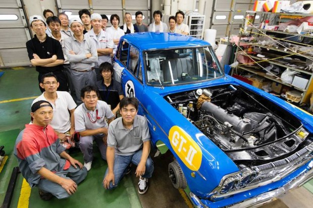 The Restoration Team with the Skyline GT