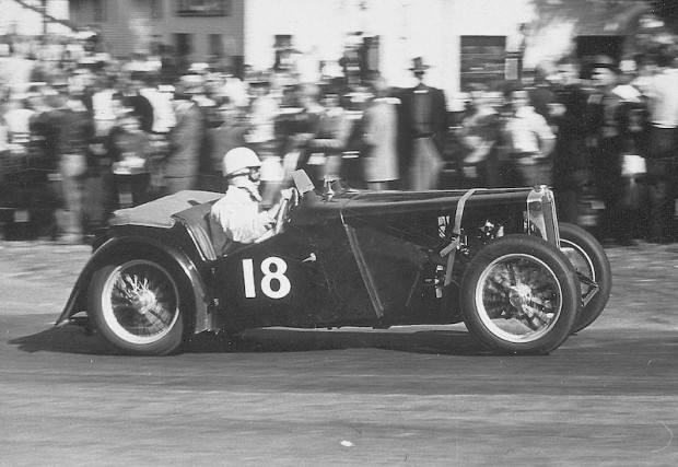 Bitten by the racing bug, John entered his MG TC in a race at Bridgehampton, NY on June 11, 1949. He came in 5th overall.