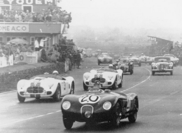 In 1951, John started racing for Briggs Cunningham. His first time out was at Le Mans on June 23 in a Cunningham C2. He and co-driver, Phil Walters, were 18th overall and 1st in class.