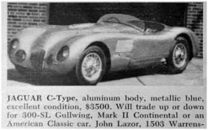 Jaguar C-Type for sale