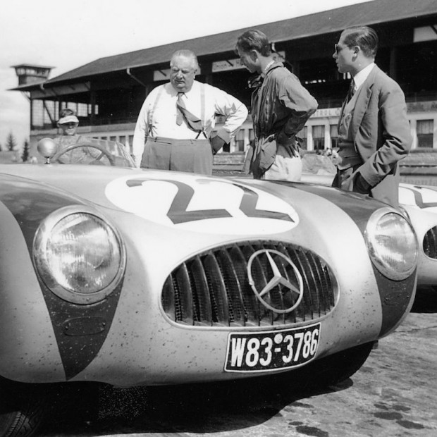 In August 1952, John was invited to try out for the Mercedes-Benz team.