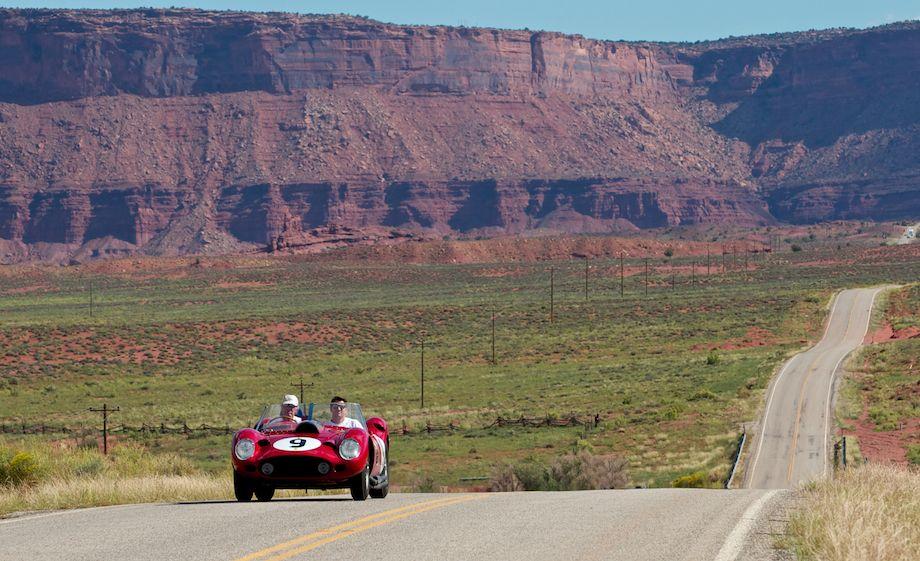 Ex-Scuderia 1959 Ferrari TR 59/60 Fantuzzi Spider on the Colorado Grand Rally (photo: John Waugh)