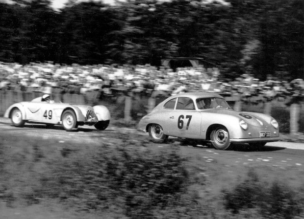 The Porsche factory team was there for a Porsches-only race so, due to his performance for Neubauer, John was asked to drive a 356 Porsche. He finished 4th overall among some of the best German drivers.