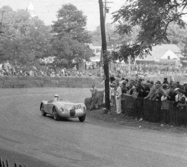 On September 20, 1952, John returned to Watkins Glen to drive a C-Type Jaguar in the Seneca Cup for importer Max Hoffman. He won it. In addition, John became the first SCCA National Champion.