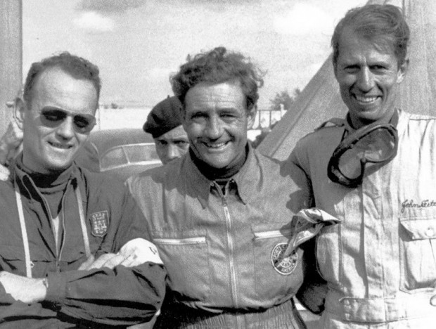 Phil Walters, Briggs Cunningham and John Fitch at Le Mans, 1953