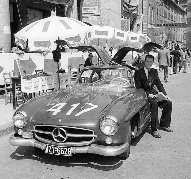 John Fitch, Mercedes-Benz 300 SL Gullwing, 1955 Mille Miglia Italy