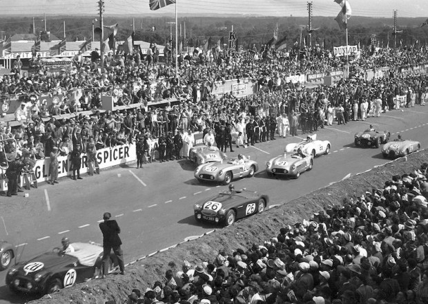 Start of the 1955 Le Mans 24 Hours. Levegh was selected to drive the first leg.