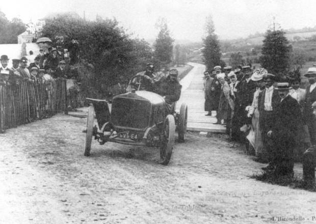 De la Touloubre in a Clement-Bayard - 1906 French Grand Prix