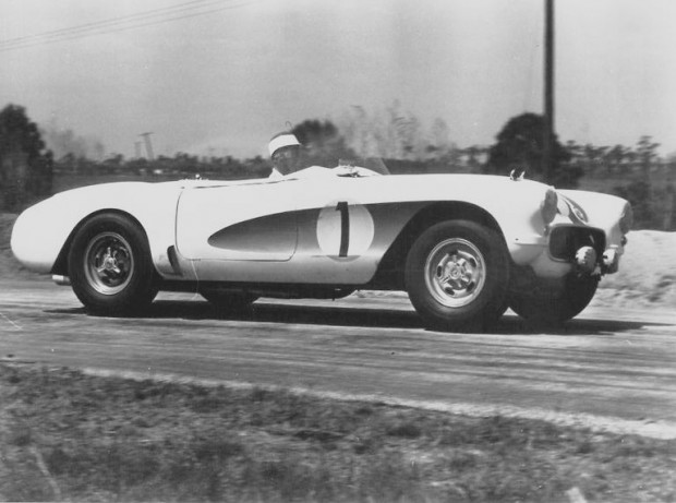The Fitch/Hansgen Corvette had a larger engine and a four-speed transmission. The finished 9th overall and won Class B at the 1956 Sebring 12 Hours.