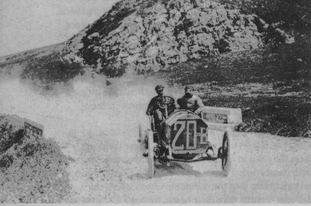 Felice Nazzaro, 1907 Targa Florio, Fiat race car