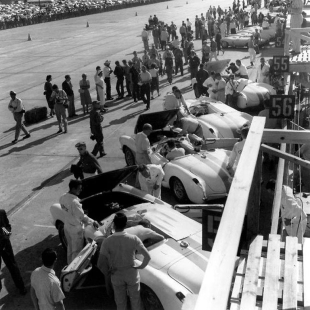 In March 1957, it was back to Sebring. Again, Fitch was asked to lead the GM team. This time, the factory sent a new Corvette SS, Detroit's first modern all-out sports racing car plus an SR2 and two production cars.
