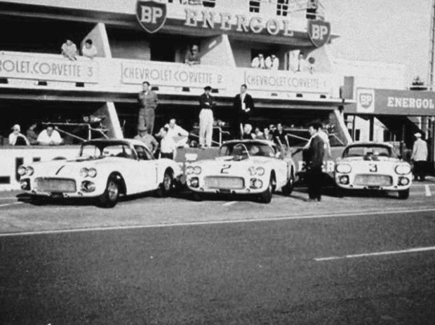 John's last European foray was at Le Mans in June 1960. Briggs Cunningham entered a three-car Corvette team: cars #1, #2 and #3.