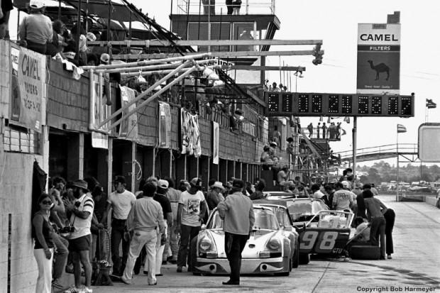 1977 Sebring 12 Hours paddock, pit lane
