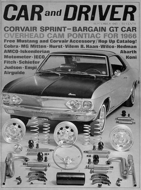 Fitch sold Sprint kits to Chevrolet dealers. As many as 100,000 were installed in Corvairs. John's design added two additional carburetors, a stiffened suspension with new springs, shocks and an anti-sway bar plus a tightened steering ratio. Engine modifications upped the horsepower from 102 to 150.