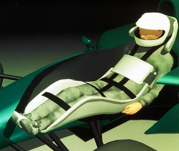 Fitch also developed a much safer seating and harness arrangement for race drivers.