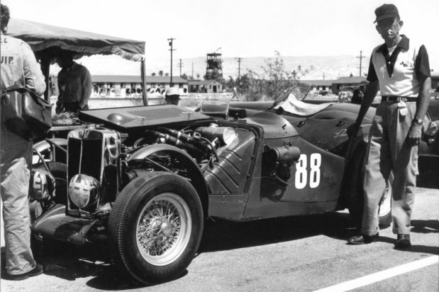 Jack McAfee drove the MG 88 Special to fifth overall at Palm Springs