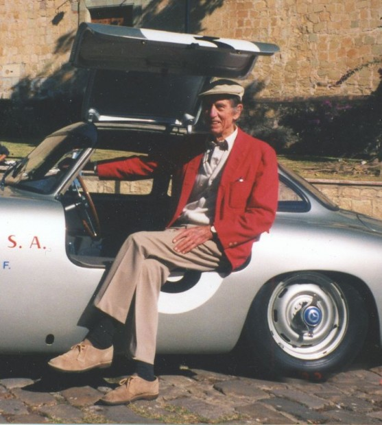 The Mercedes-Benz publicity folks staged a reunion event to commemorate the 1952 victory at the Carrera Panamericana. They invited John and, as I recall him telling me, paid all of his expenses as well as a rather generous honorarium.