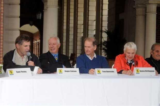 N.A.R.T. racing discussion included Sam Posey, Roger Colson, Tom Burnside, Denise McCluggage, among others