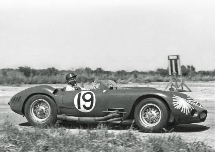 Juan Manuel Fangio in Maserati at Sebring