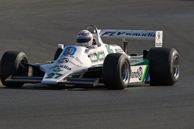 Hamish Somerville in his Williams FW07B