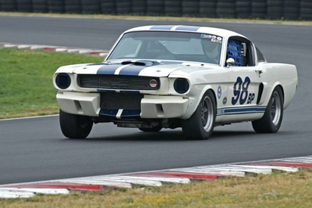 Shelby Mustang GT350 powers out of Turn 5.