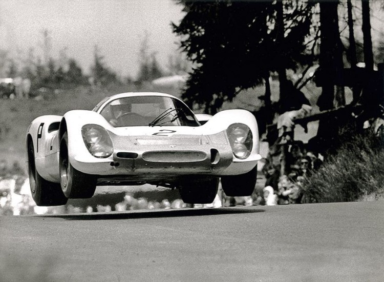 Vic Elford's Porsche 908 at the Nurburgring 1000 KM in 1968