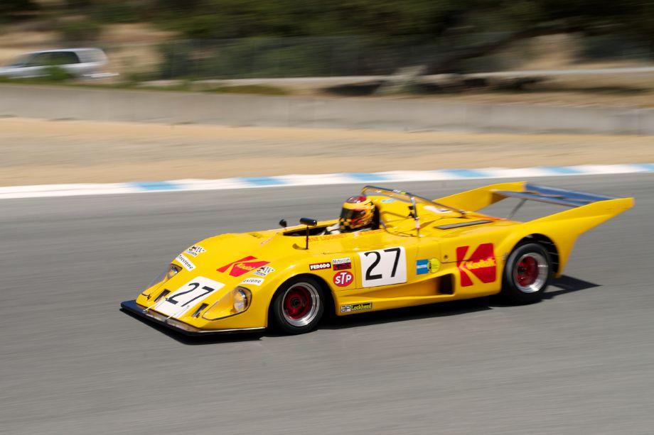Keith Frieser's 1972 Lola T290 in turn nine Sunday morning.