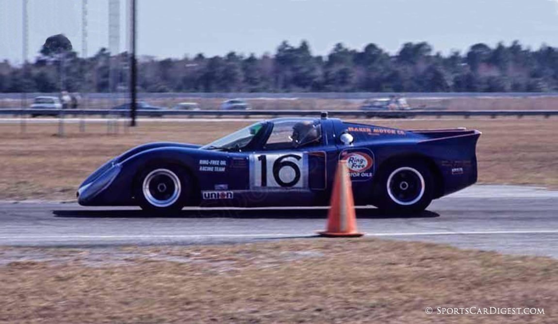 The Jim and Clive Baker Chevron B16 was also a competitor in the prototype class despite the fact that it had only a four cylinder 1800 cc engine. (Fred Lewis photo)