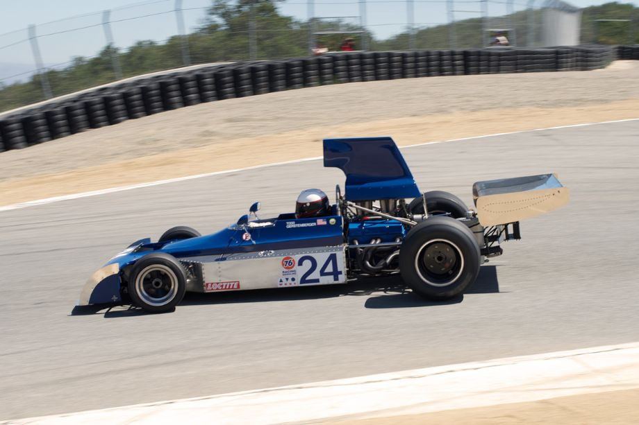 Jim Stengel's 1973 McRae F5000 in the Corkscrew Sunday.