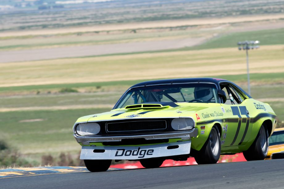 Richard Goldsmith's 1970 Challenger in turn two.