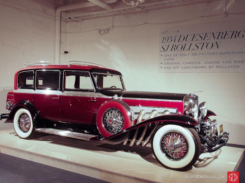 1934 Duesenberg Model SJ Touring Berline, Body by Rollston
