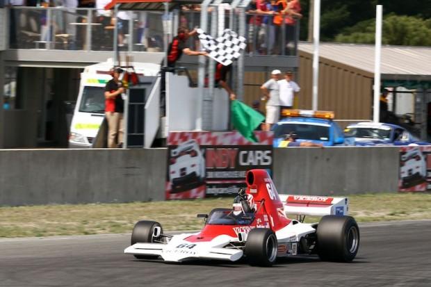 Michael Lyons wins in his Lola T400