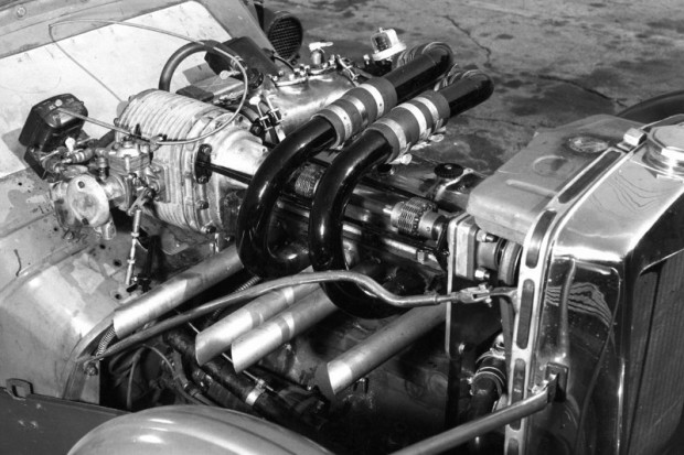 Details of the supercharged engine in John Edgar's MG Special
