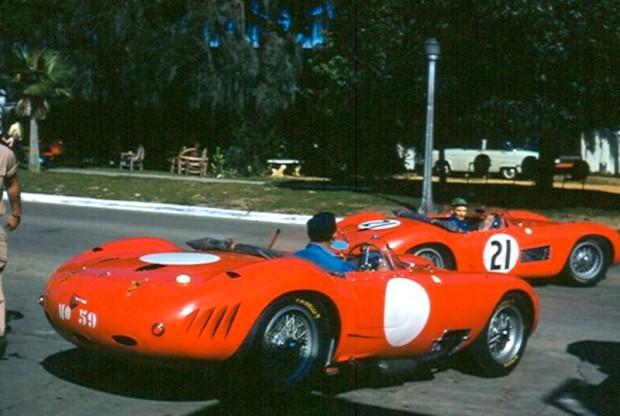 Both Ferrari and Maserati rented garages in downtown Sebring.