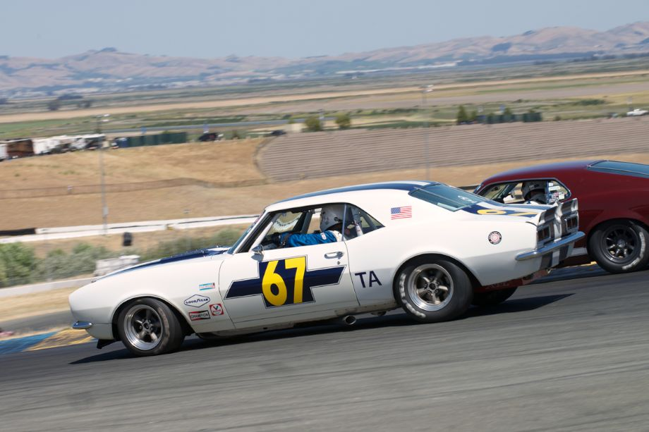 Tight quarters in four. Walter Brown's 1969 Camaro.