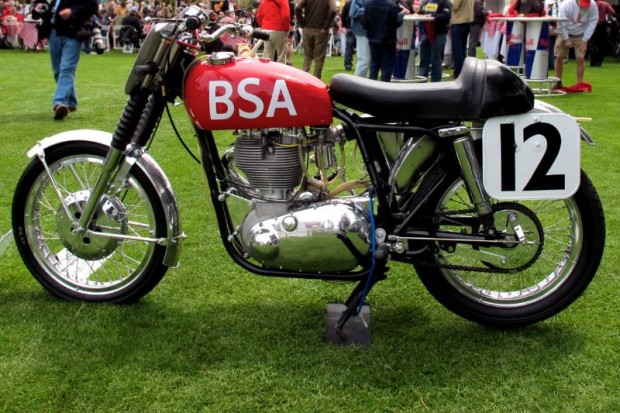 This 1957 BSA Goldstar Daytona Beach Special offered for auction through Bonhams & Butterfields likes to be seen outdoors rather than inside.  It has great racing history.