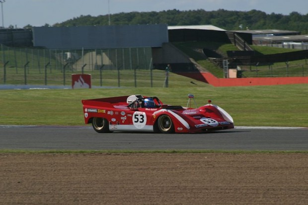 Knapfield drove superbly in spite of the challenging aerodynamics of the Ferrari 712. Photo: Ed McDonough