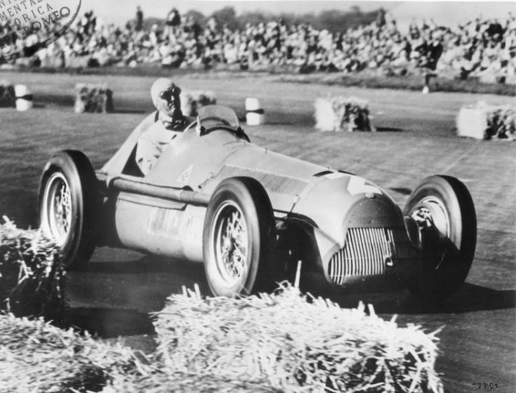 "Giuseppe ""Nino"" Farina won the first Grand Prix of Europe on Alfa Romeo 158"